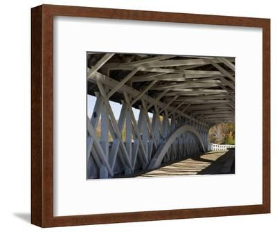 Covered Bridge over the Upper Ammonoosuc River, Groveton, New Hampshire, USA-Jerry & Marcy Monkman-Framed Photographic Print