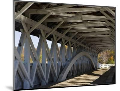 Covered Bridge over the Upper Ammonoosuc River, Groveton, New Hampshire, USA-Jerry & Marcy Monkman-Mounted Photographic Print