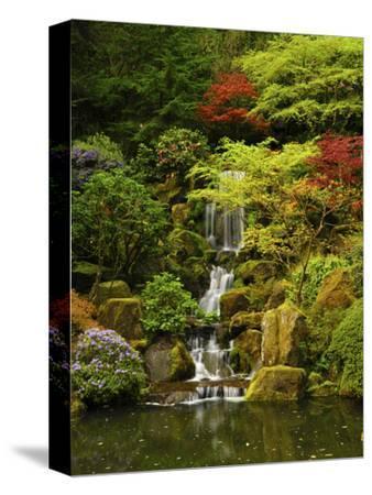 Spring, Portland Japanese Garden, Portland, Oregon, USA-Michel Hersen-Stretched Canvas Print