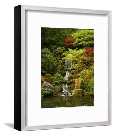 Spring, Portland Japanese Garden, Portland, Oregon, USA-Michel Hersen-Framed Photographic Print