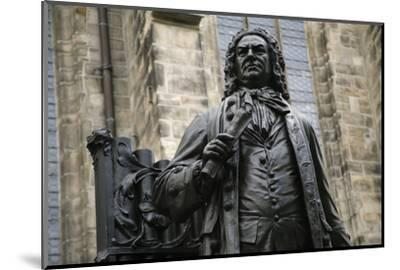 Statue of J. S. Bach, Courtyard of St. Thomas Church, Leipzig, Germany-Dave Bartruff-Mounted Photographic Print