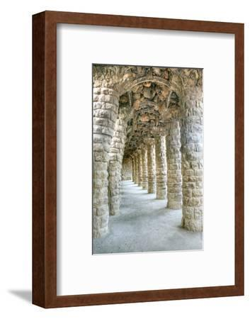 Park Guell Colonnaded Footpath, Barcelona, Spain-Rob Tilley-Framed Photographic Print