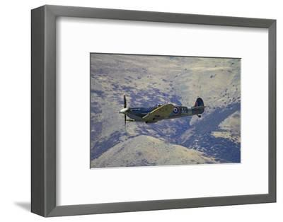 Supermarine Spitfire, British and Allied WWII War Plane, South Island, New Zealand-David Wall-Framed Photographic Print