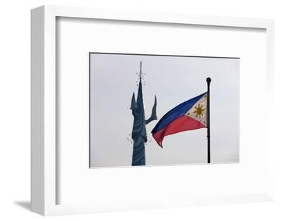Tv Tower and National Flag, Manila, Philippines-Keren Su-Framed Photographic Print