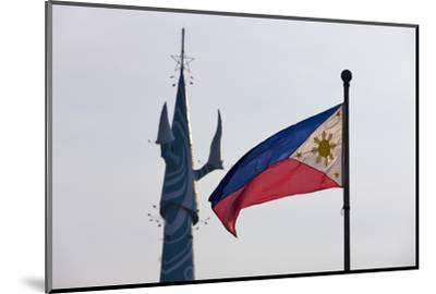 Tv Tower and National Flag, Manila, Philippines-Keren Su-Mounted Photographic Print