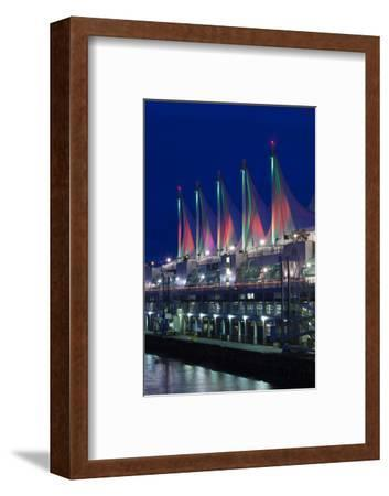 Dawn, Canada Place, Vancouver, British Columbia, Canada-Walter Bibikow-Framed Photographic Print