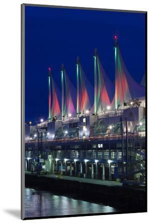 Dawn, Canada Place, Vancouver, British Columbia, Canada-Walter Bibikow-Mounted Photographic Print
