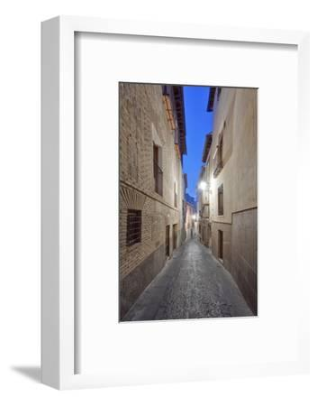 Historic District Alley at Dawn, Toledo, Spain-Rob Tilley-Framed Photographic Print