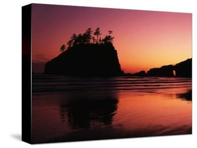 View of Second Beach, Olympic National Park, Washington State, USA-Stuart Westmorland-Stretched Canvas Print