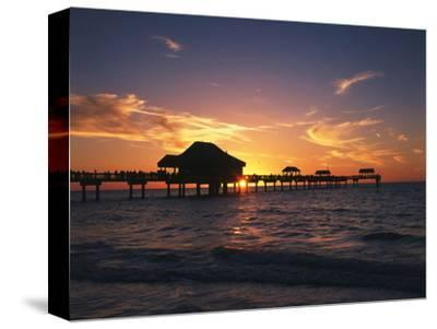 Clearwater Beach and Pier at Sunset, Florida, USA-Adam Jones-Stretched Canvas Print