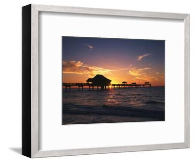 Clearwater Beach and Pier at Sunset, Florida, USA-Adam Jones-Framed Photographic Print