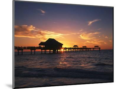 Clearwater Beach and Pier at Sunset, Florida, USA-Adam Jones-Mounted Photographic Print