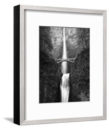 View of Multnomah Falls in Columbia Gorge, Oregon, USA-Walter Bibikow-Framed Photographic Print