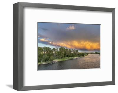 Incredible Stormy Light on the Madison River at Sunset Near Ennis, Montana, USA-Chuck Haney-Framed Photographic Print