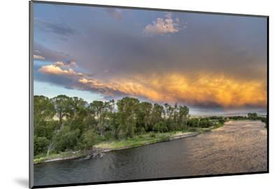 Incredible Stormy Light on the Madison River at Sunset Near Ennis, Montana, USA-Chuck Haney-Mounted Photographic Print