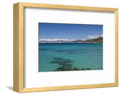 Water View, Ille Rousse, La Balagne, Corsica, France-Walter Bibikow-Framed Photographic Print