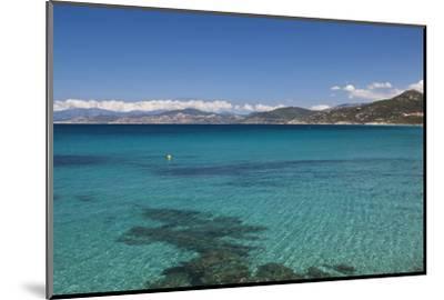Water View, Ille Rousse, La Balagne, Corsica, France-Walter Bibikow-Mounted Photographic Print