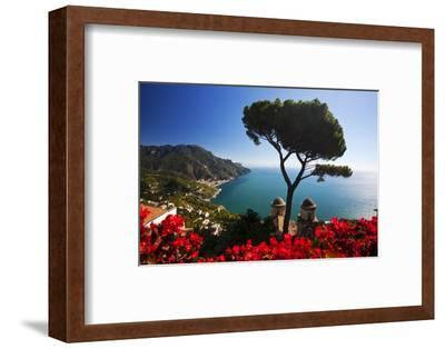 View of the Amalfi Coast from Villa Rufolo in Ravello, Italy-Terry Eggers-Framed Photographic Print