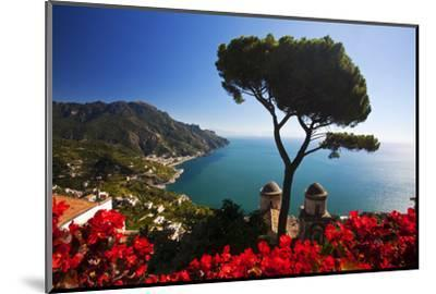 View of the Amalfi Coast from Villa Rufolo in Ravello, Italy-Terry Eggers-Mounted Photographic Print