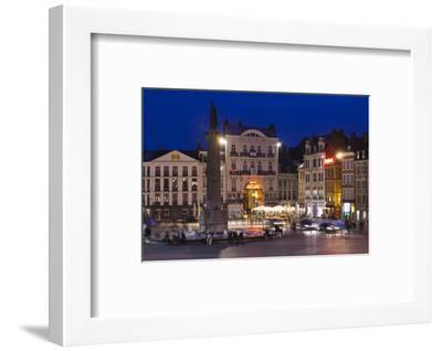 Dusk, Grand Place, Lille, French Flanders, France-Walter Bibikow-Framed Photographic Print