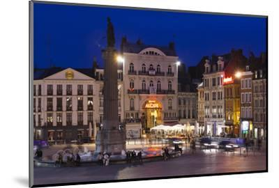 Dusk, Grand Place, Lille, French Flanders, France-Walter Bibikow-Mounted Photographic Print