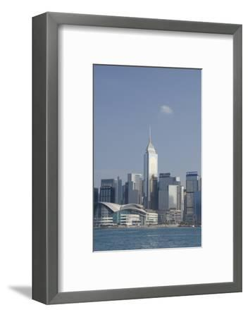City Skyline View from Victoria Harbor, Hong Kong, China-Cindy Miller Hopkins-Framed Photographic Print