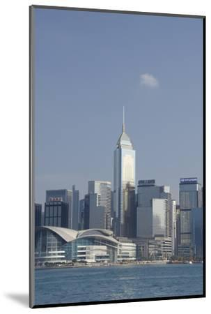 City Skyline View from Victoria Harbor, Hong Kong, China-Cindy Miller Hopkins-Mounted Photographic Print