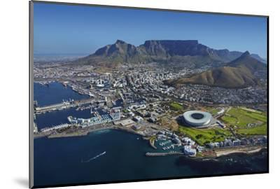 Aerial of Stadium,Waterfront, Table Mountain, Cape Town, South Africa-David Wall-Mounted Photographic Print