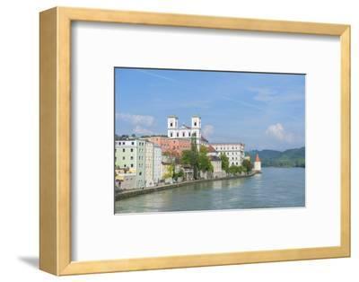 Danube River, Passau, Bavaria, Germany-Jim Engelbrecht-Framed Photographic Print