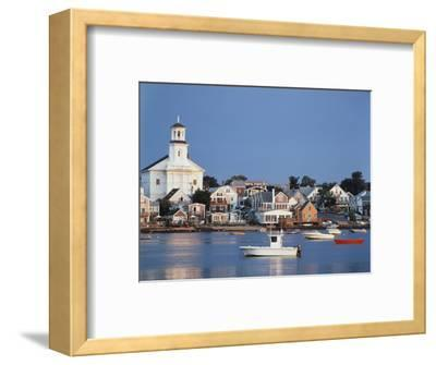 Provincetown Harbor and Town, Cape, Cod, Massachusetts, USA-Walter Bibikow-Framed Photographic Print