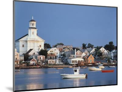 Provincetown Harbor and Town, Cape, Cod, Massachusetts, USA-Walter Bibikow-Mounted Photographic Print