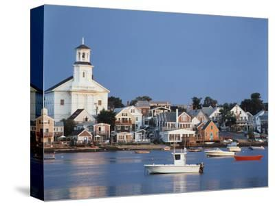 Provincetown Harbor and Town, Cape, Cod, Massachusetts, USA-Walter Bibikow-Stretched Canvas Print