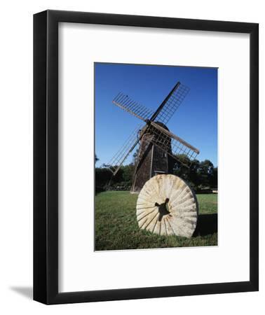 Jamestown Windmill, Conanicut Island, Rhode Island, USA-Walter Bibikow-Framed Photographic Print
