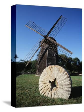 Jamestown Windmill, Conanicut Island, Rhode Island, USA-Walter Bibikow-Stretched Canvas Print