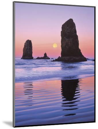 The Needles Rock Monoliths at Sunrise, Cannon Beach, Oregon, USA-Jaynes Gallery-Mounted Photographic Print