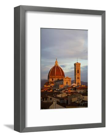 Italy, Florence, Main Duomo with evening's last light.-Terry Eggers-Framed Photographic Print