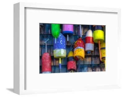 Buoys on an Old Shed at Bernard, Maine, USA-Joanne Wells-Framed Photographic Print