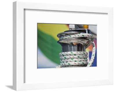 Sailboat Winch with Coiled Rope, San Juan Islands, Washington, USA-Jaynes Gallery-Framed Photographic Print
