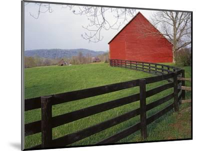 Barn Near Etlan, Virginia, USA-Charles Gurche-Mounted Photographic Print