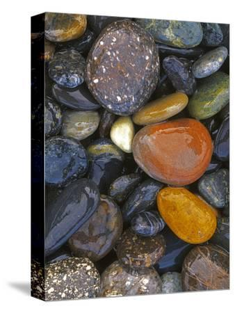 Stones, Lopez Island, Agate Beach County, Washington, USA-Charles Gurche-Stretched Canvas Print