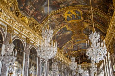 The Hall of Mirrors, Chateau de Versailles, France.-Brian Jannsen-Photographic Print