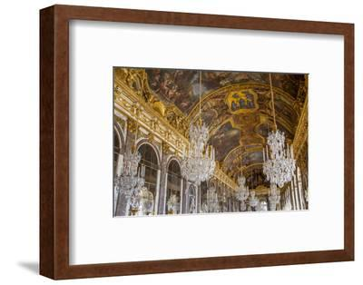 The Hall of Mirrors, Chateau de Versailles, France.-Brian Jannsen-Framed Photographic Print