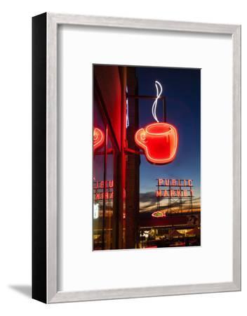 Pike Place Market at Christmastime. Seattle, Washington, USA-Michele Benoy Westmorland-Framed Photographic Print