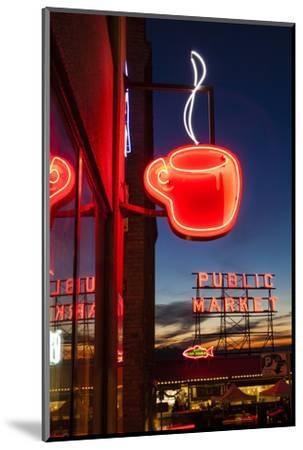 Pike Place Market at Christmastime. Seattle, Washington, USA-Michele Benoy Westmorland-Mounted Photographic Print
