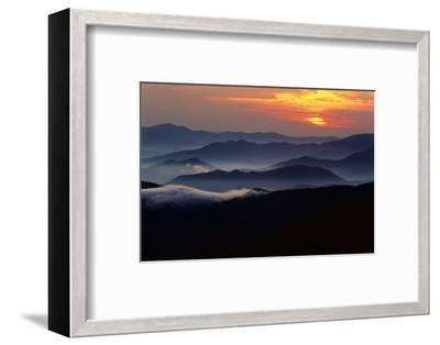 Sunset over the Great Smoky Mountains National Park, Tennessee, USA-Jerry Ginsberg-Framed Photographic Print