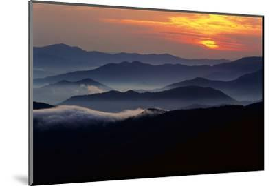 Sunset over the Great Smoky Mountains National Park, Tennessee, USA-Jerry Ginsberg-Mounted Photographic Print