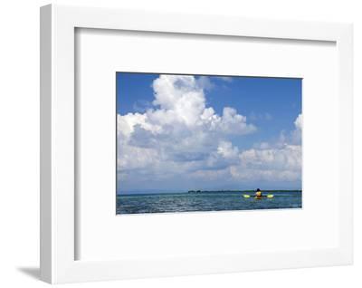 Kayaking around Barrier Reef, Southwater Cay, Belize-Cindy Miller Hopkins-Framed Photographic Print