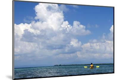 Kayaking around Barrier Reef, Southwater Cay, Belize-Cindy Miller Hopkins-Mounted Photographic Print