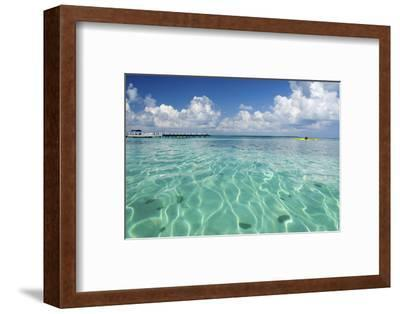 Kayaker in Blue Waters, Southwater Cay, Belize-Cindy Miller Hopkins-Framed Photographic Print