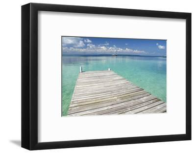 Pier over Clear Waters, Southwater Cay, Stann Creek, Belize-Cindy Miller Hopkins-Framed Photographic Print